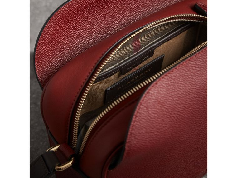 The Small Buckle Crossbody Bag in Two-tone Leather in Antique Red - Women | Burberry United States - cell image 4