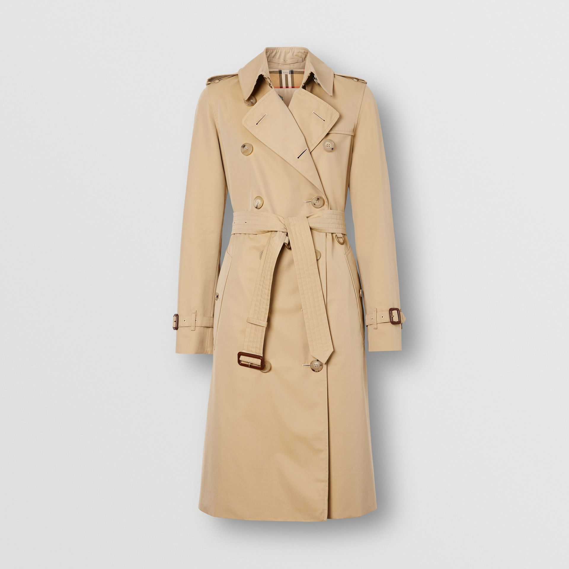 The Long Kensington Heritage Trench Coat in Honey - Women | Burberry United States - gallery image 8