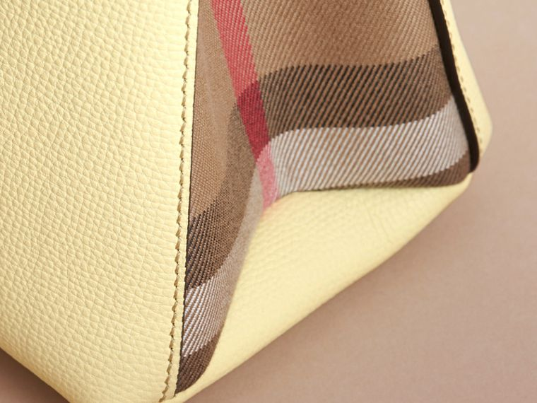 The Baby Banner in Leather and House Check in Camomile Yellow - Women | Burberry Canada - cell image 1