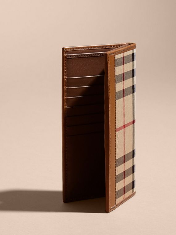 Small Horseferry Check Currency Wallet in Tan - Men | Burberry United Kingdom - cell image 3