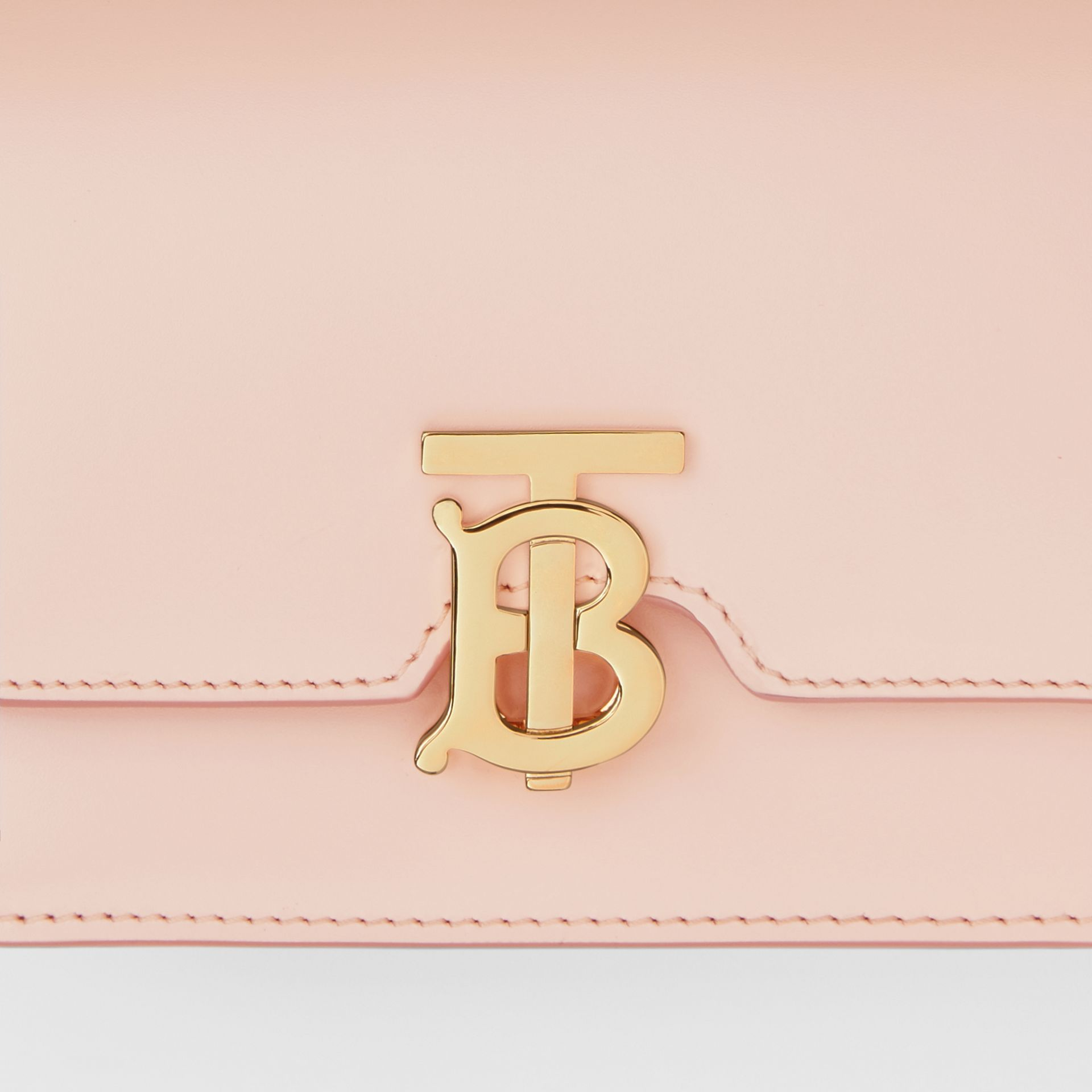 Mini Leather TB Bag in Rose Beige - Women | Burberry - gallery image 1