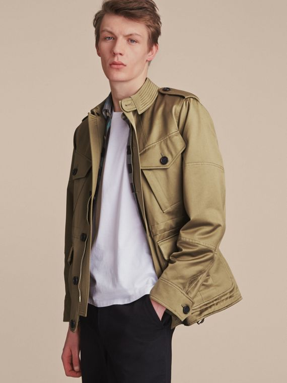 Cotton Field Jacket with Detachable Warmer