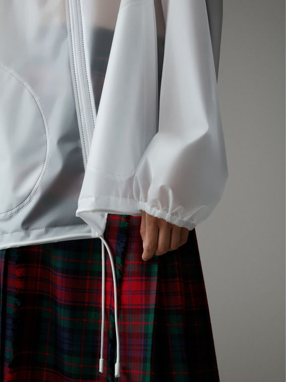 Soft-touch Plastic Cagoule in White - Women | Burberry - cell image 1