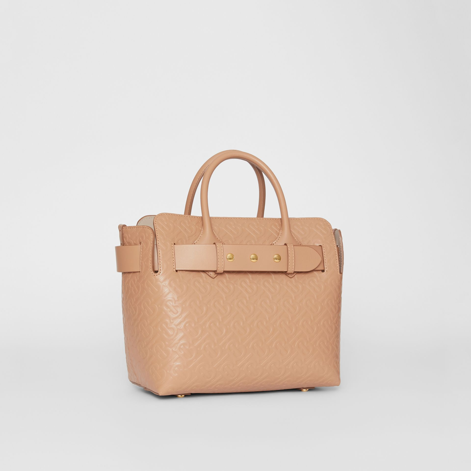 The Small Monogram Leather Triple Stud Belt Bag in Light Camel - Women | Burberry - gallery image 6
