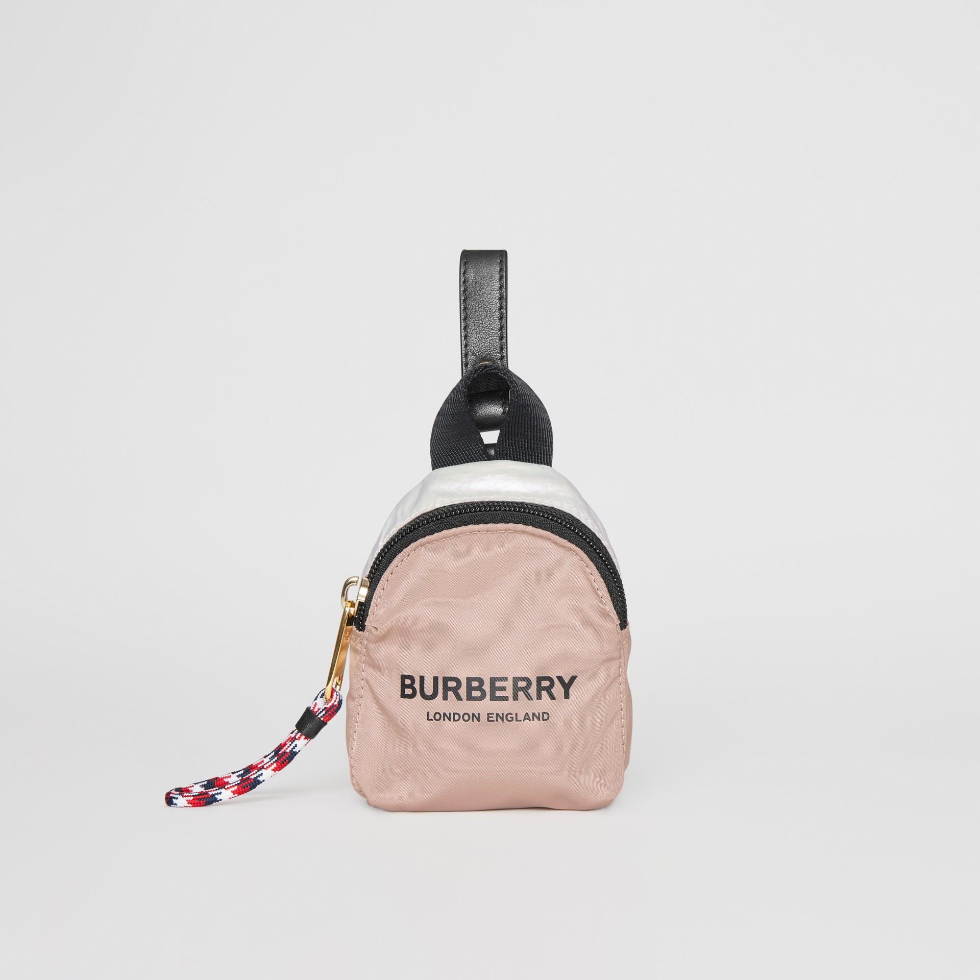 Двухцветный кошелек для монет с логотипом Burberry (Перламутр) - Для детей | Burberry - изображение 0