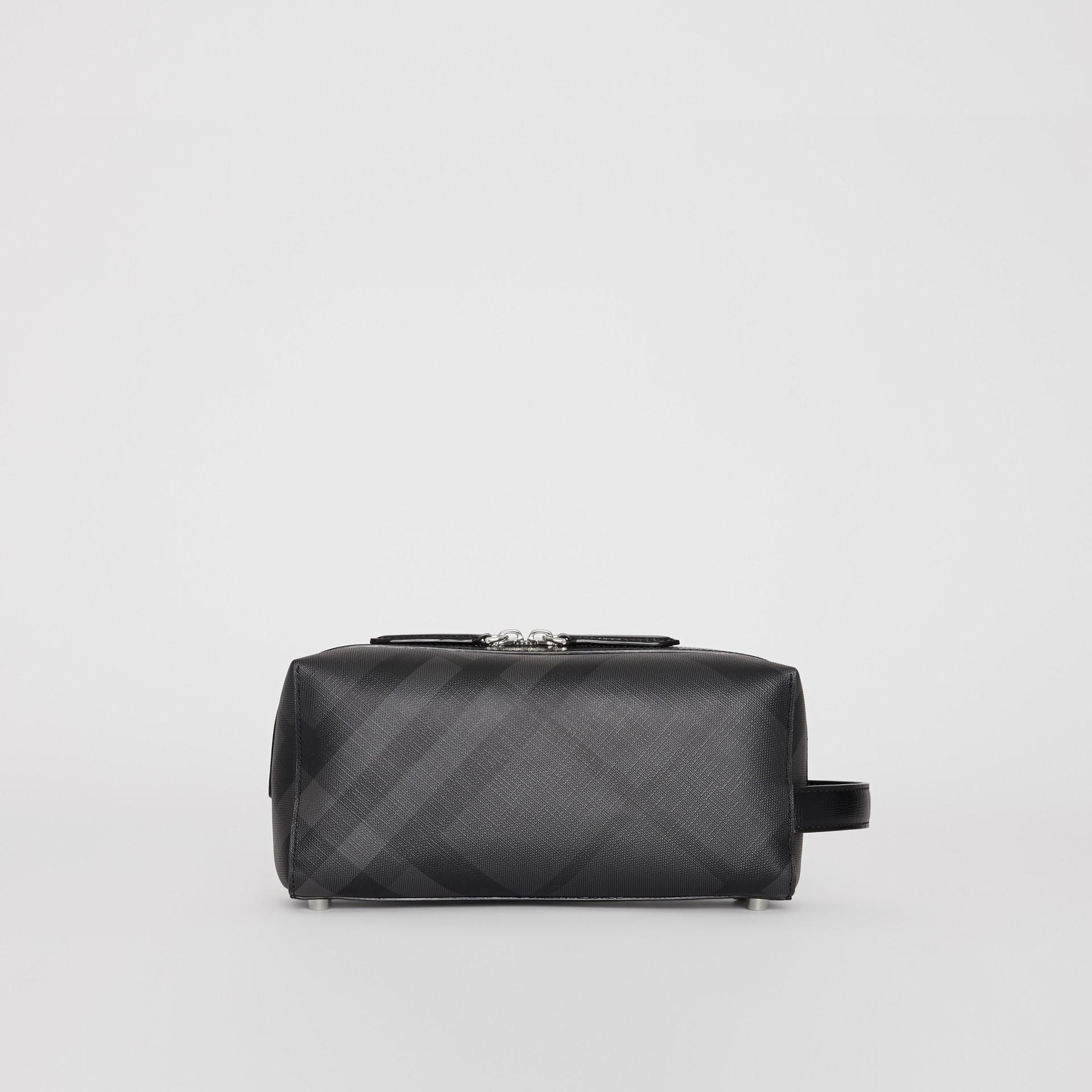 Etui aus London Check-Gewebe mit Lederdetails (Anthrazit/schwarz) | Burberry - Galerie-Bild 4