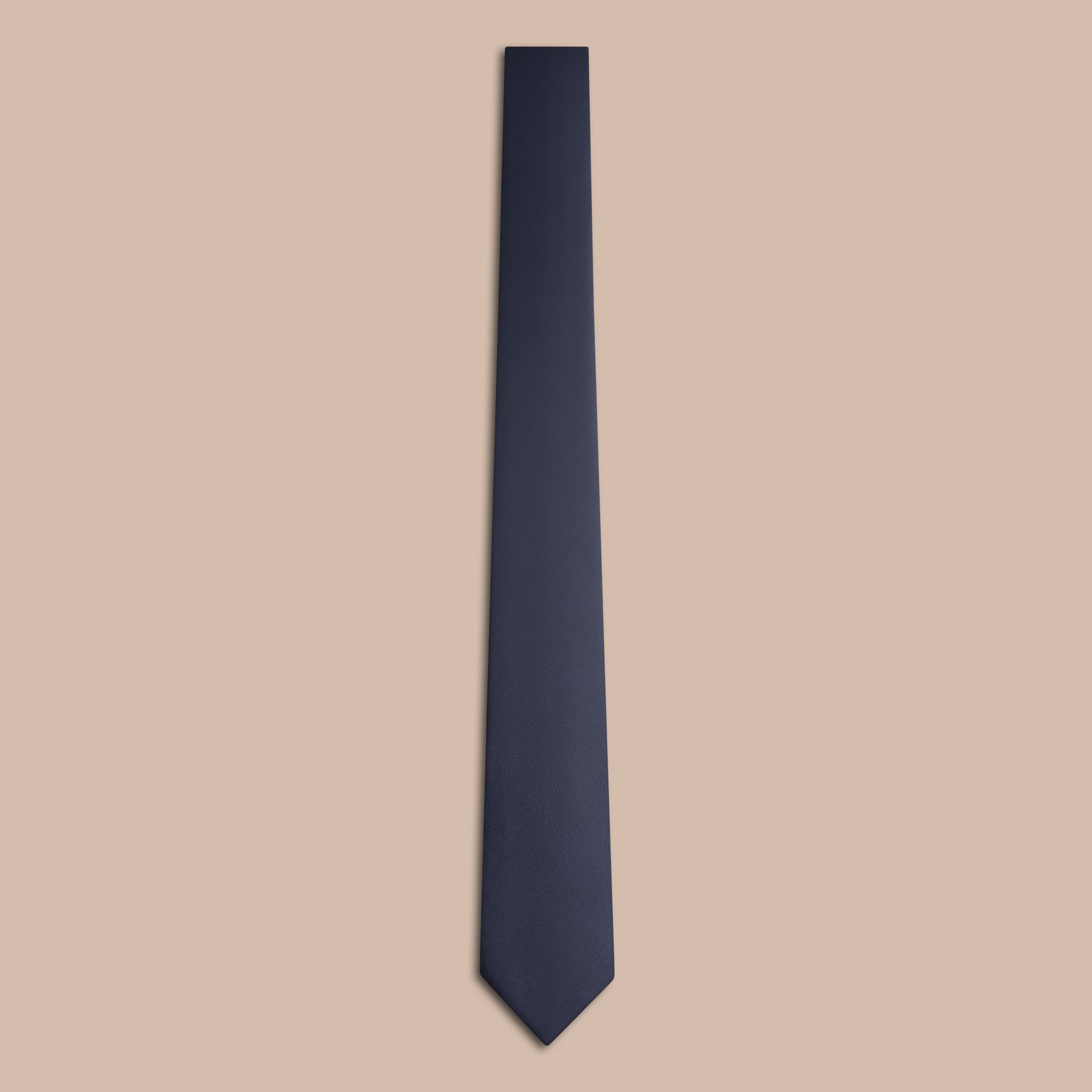 Black ink Modern Cut Silk Tie - gallery image 5