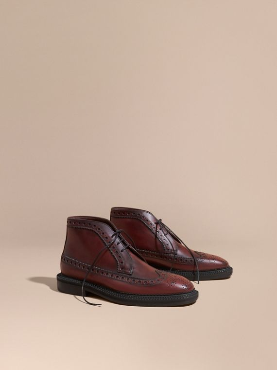 Leather Brogue Boots - Men | Burberry