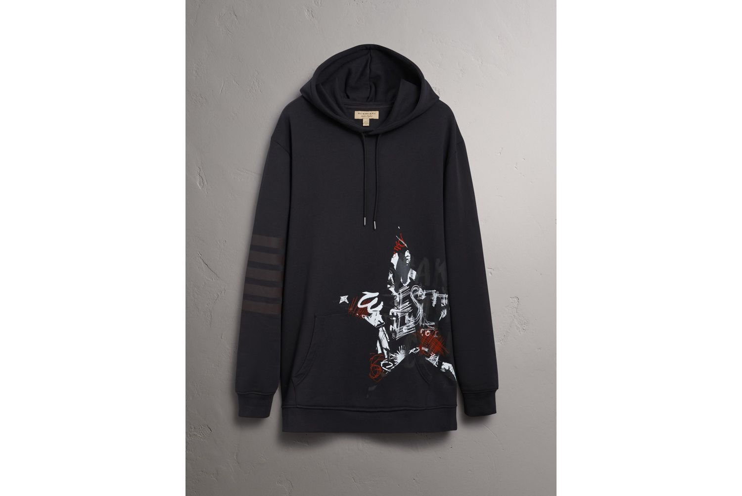 Sweat-shirt à capuche Burberry x Kris Wu (Noir)