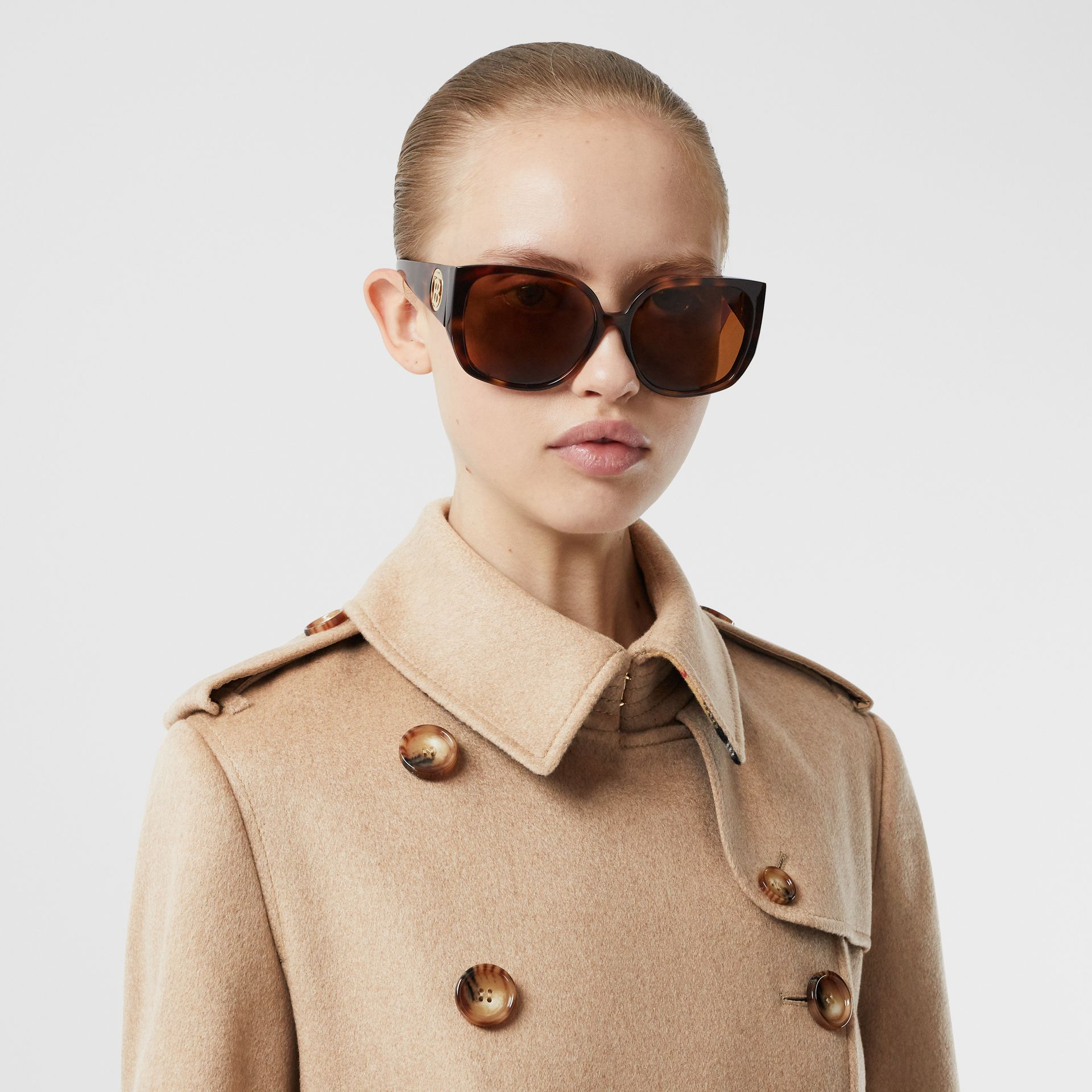 Cashmere Trench Coat in Camel - Women | Burberry United Kingdom - gallery image 1