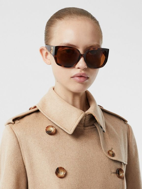 Cashmere Trench Coat in Camel - Women | Burberry - cell image 1