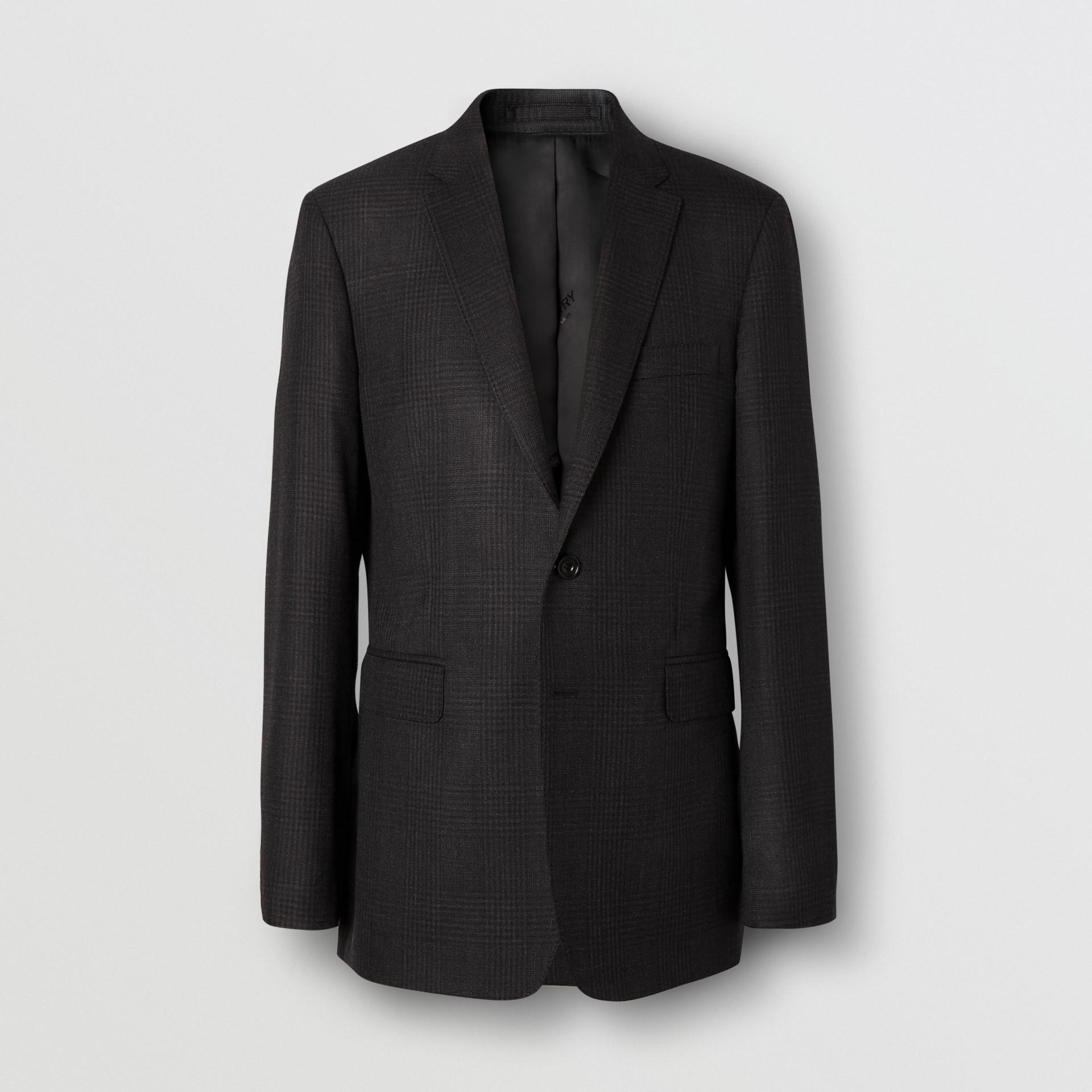スリムフィット プリンス オブ ウェールズ チェック ウールスーツ (ダークグレー) - メンズ | バーバリー - ギャラリーイメージ 3