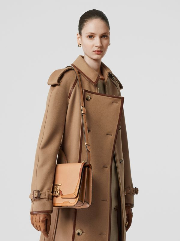Medium Appliqué Leather TB Bag in Warm Camel - Women | Burberry - cell image 2