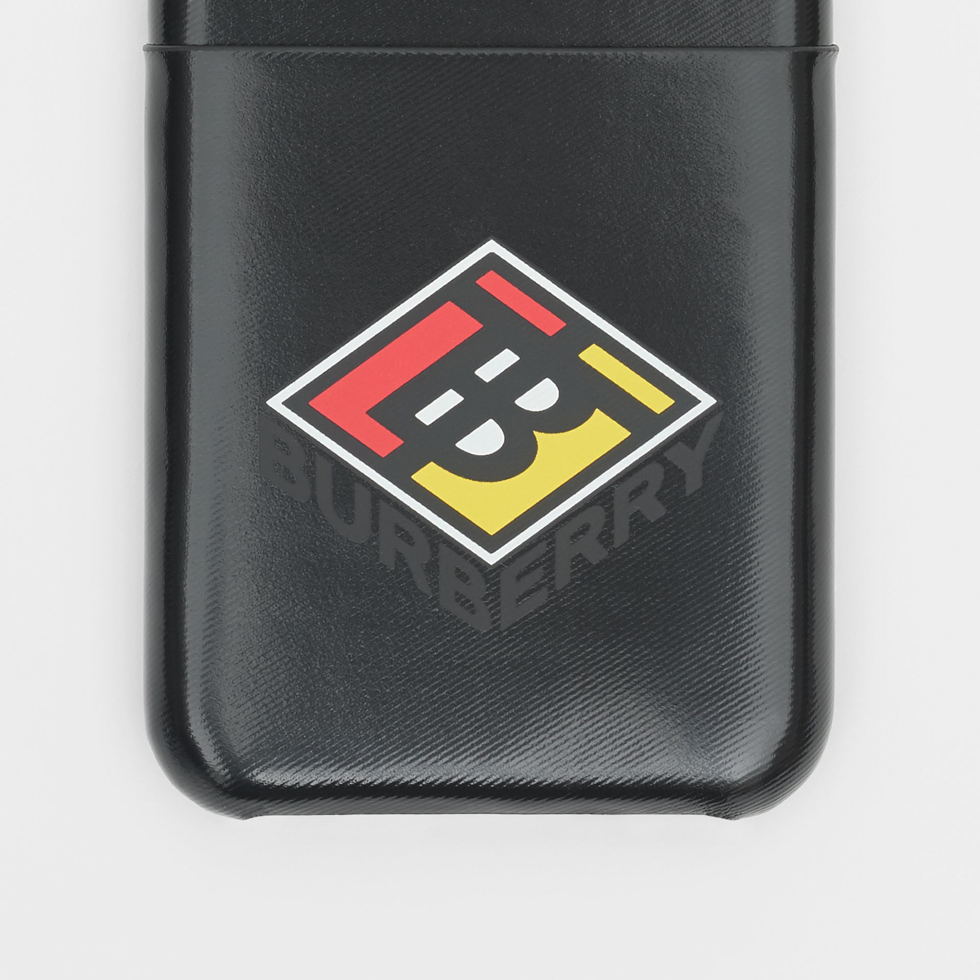 Logo Graphic Canvas iPhone X/XS Case in Black | Burberry Canada - gallery image 1