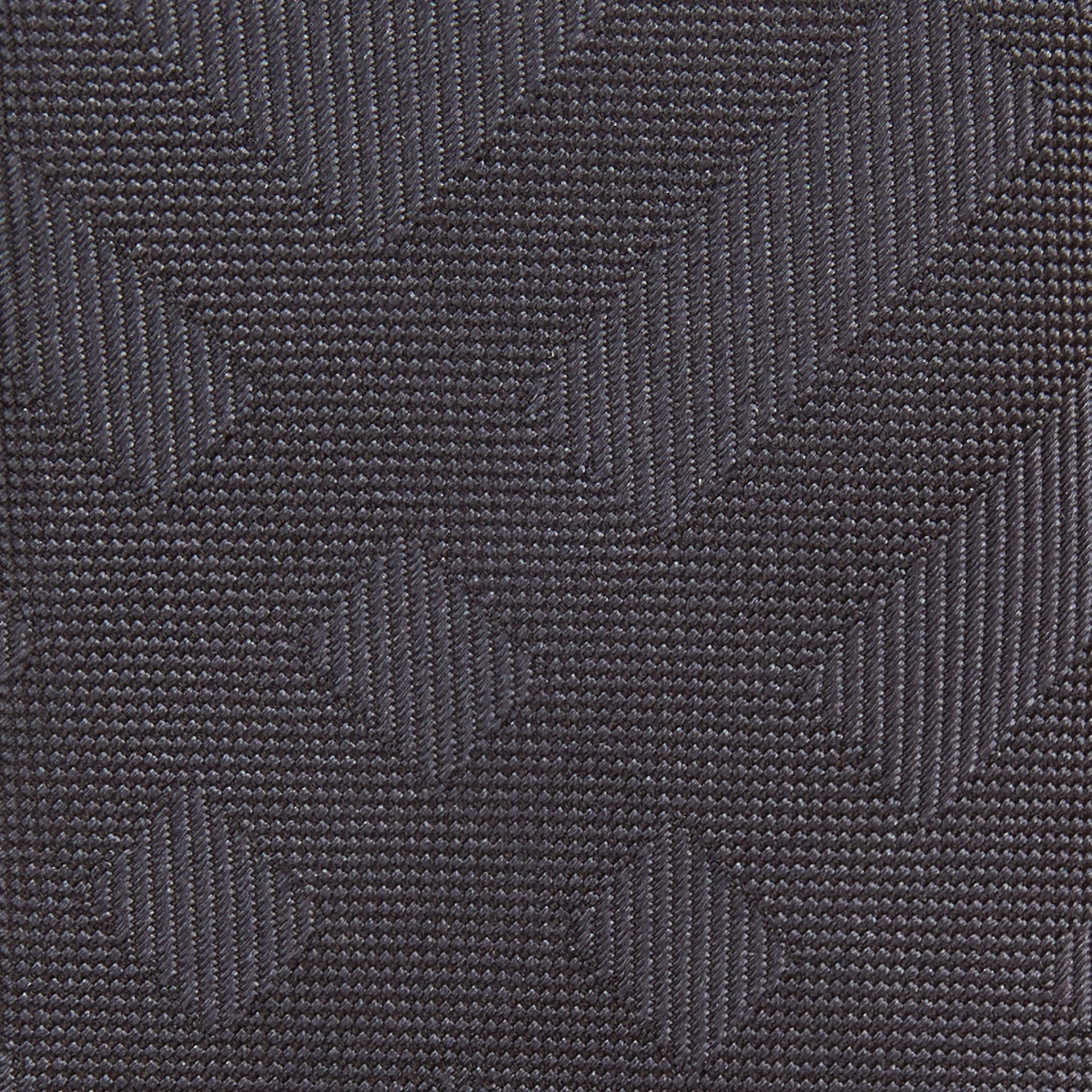 Charcoal Slim Cut Check Silk Tie Charcoal - gallery image 2