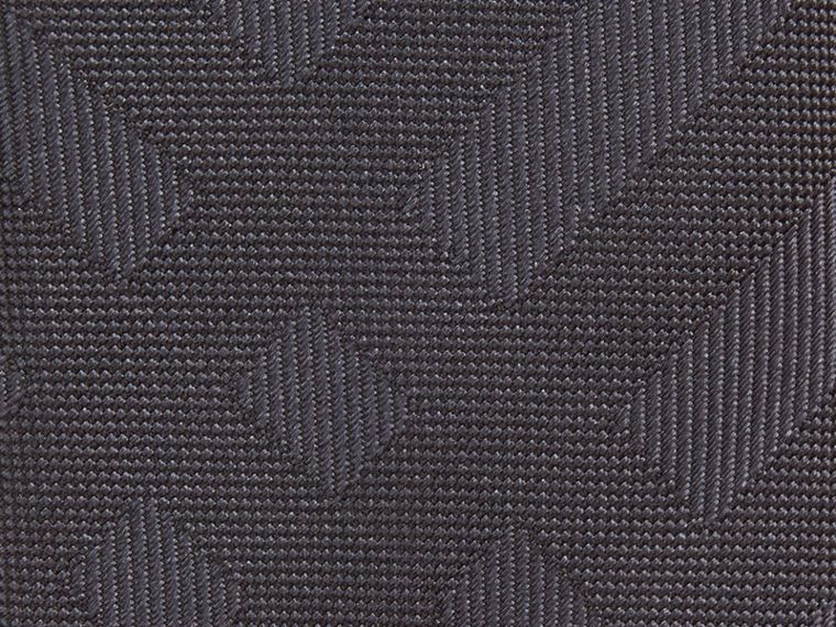 Anthracite Cravate étroite en soie à motif check Anthracite - cell image 1
