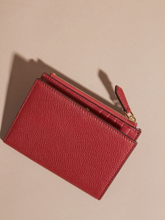 Leather Passport Wallet in Parade Red - cell image 3