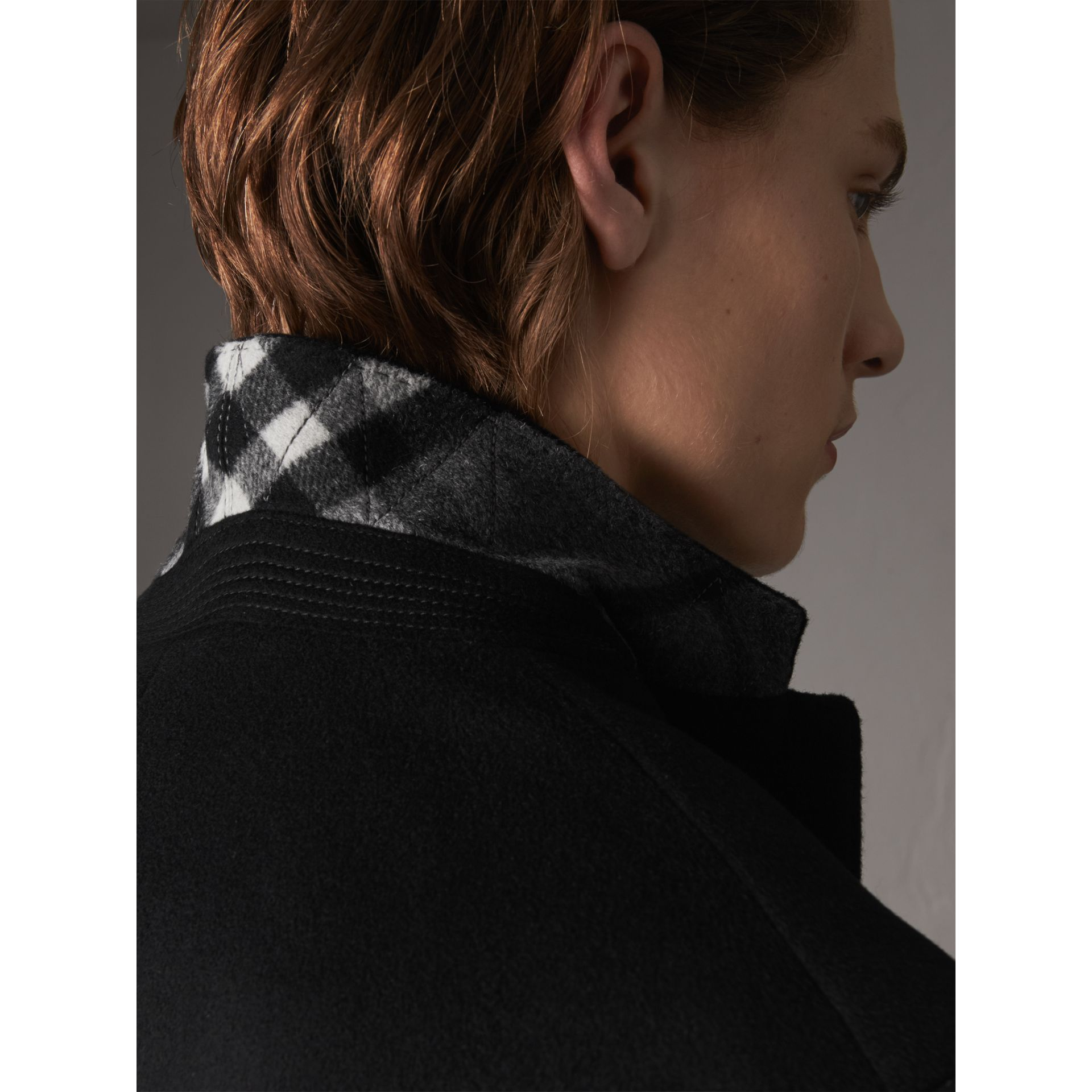 Wool Cashmere Tailored Coat in Black - Men | Burberry Canada - gallery image 1