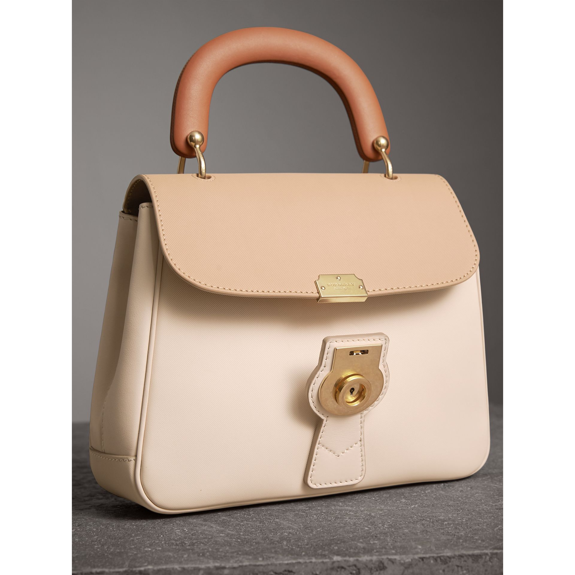 The Medium DK88 Top Handle Bag in Limestone/honey - Women | Burberry United Kingdom - gallery image 6