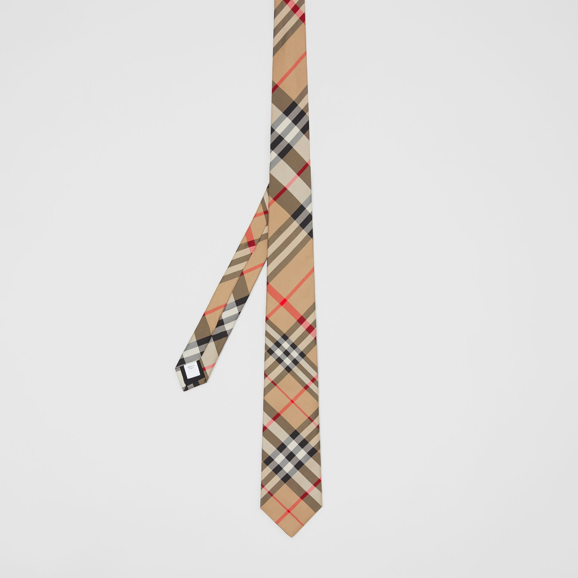 Classic Cut Check Silk Tie in Archive Beige - Men | Burberry Singapore - gallery image 3