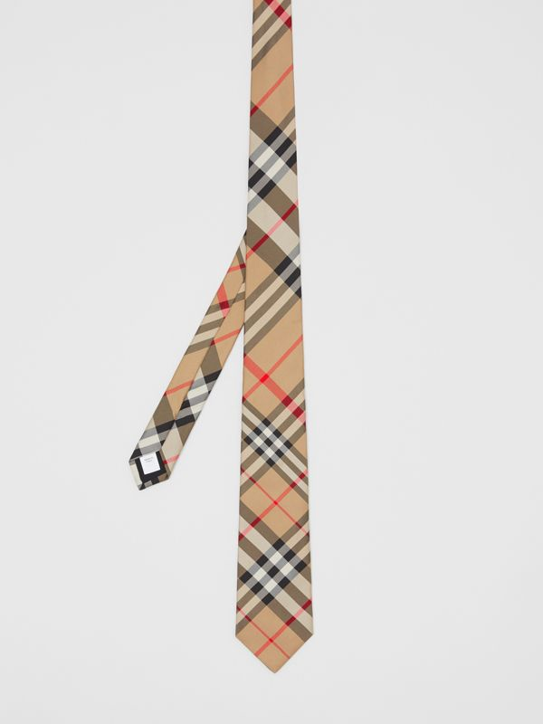 Classic Cut Check Silk Tie in Archive Beige - Men | Burberry Singapore - cell image 3