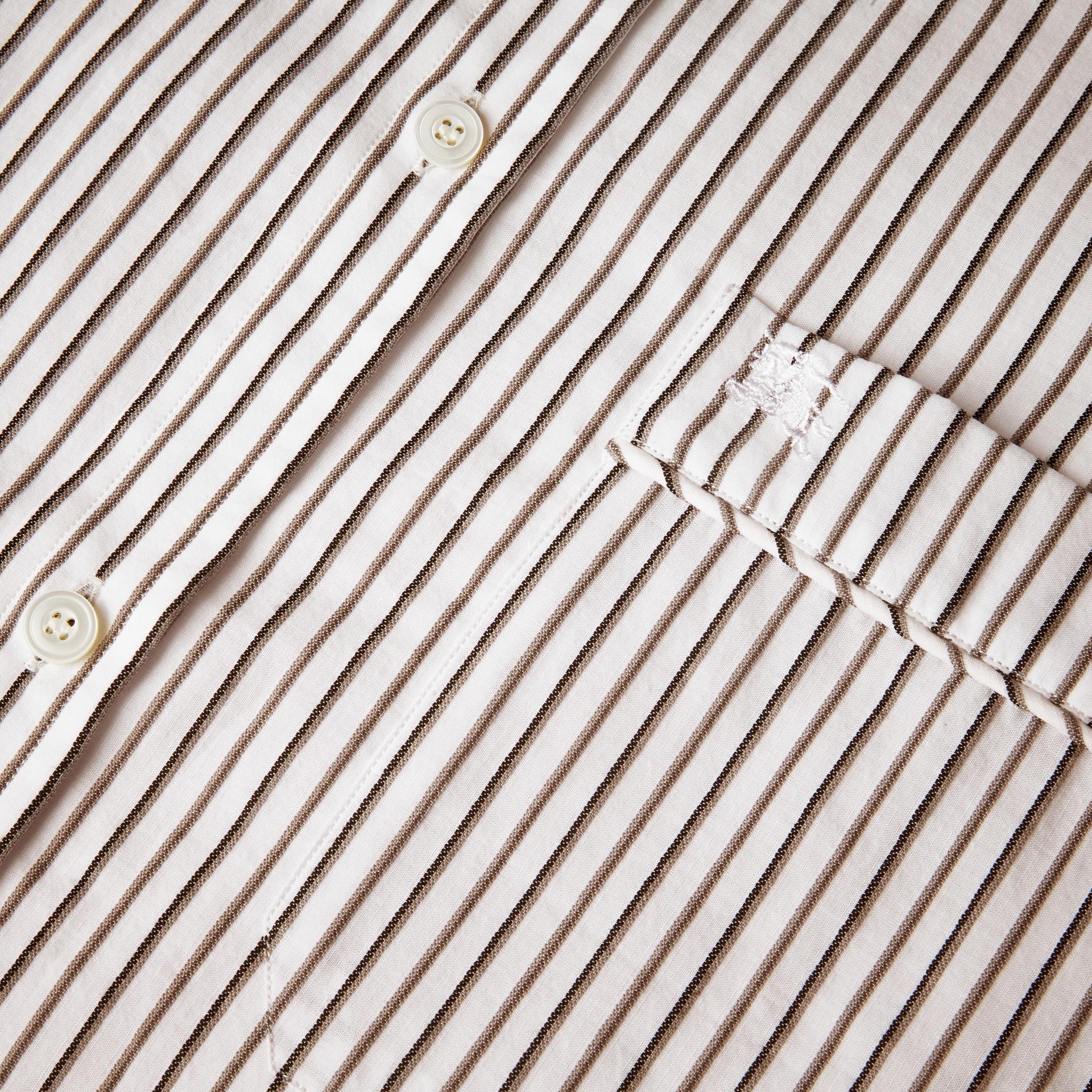 Striped Cotton Poplin Shirt - gallery image 2