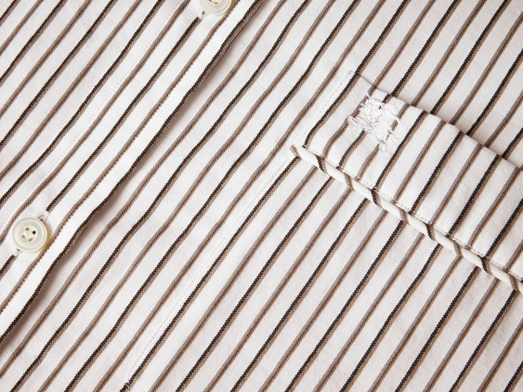 Striped Cotton Poplin Shirt - cell image 1
