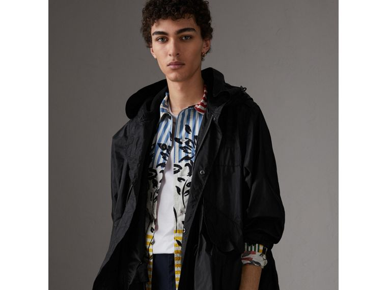 Showerproof Technical Parka in Black - Men | Burberry - cell image 4