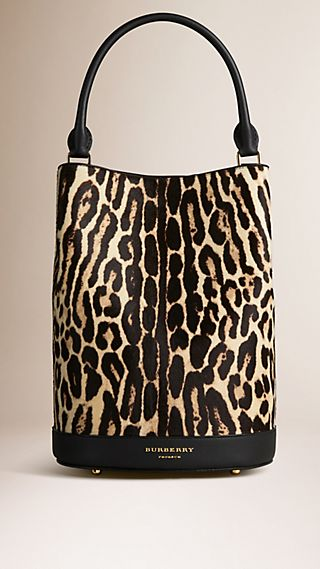 The Bucket Bag in Animal Print Calfskin