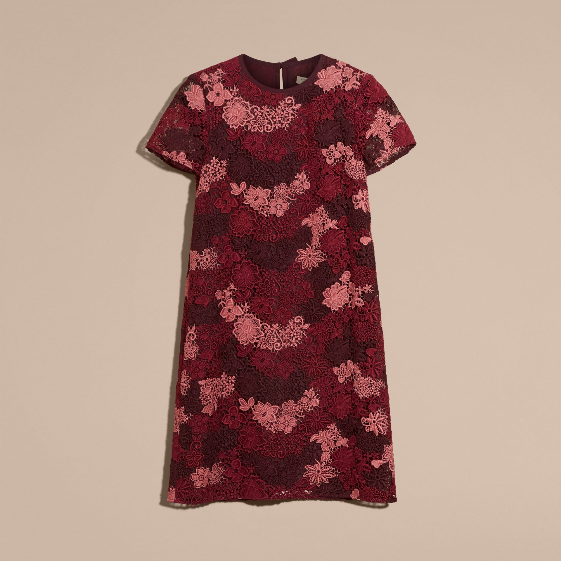Deep claret Italian-woven Lace T-shirt Dress Deep Claret - gallery image 4