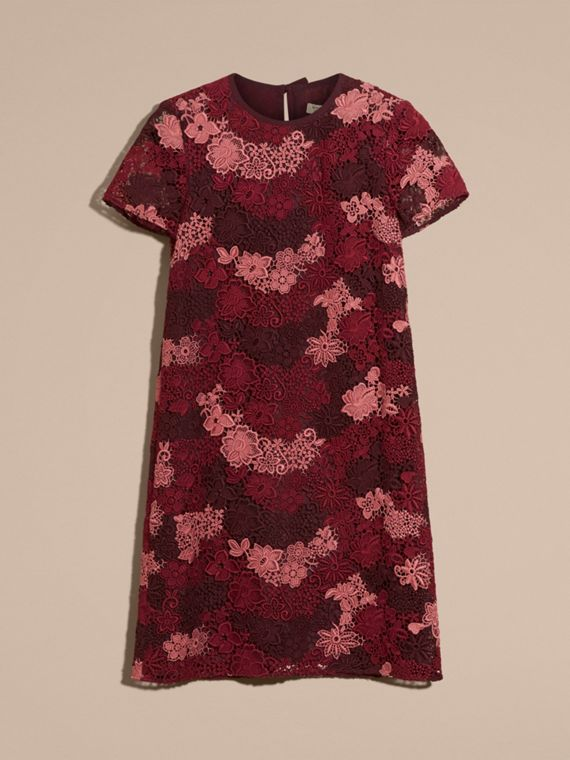 Deep claret Italian-woven Lace T-shirt Dress Deep Claret - cell image 3