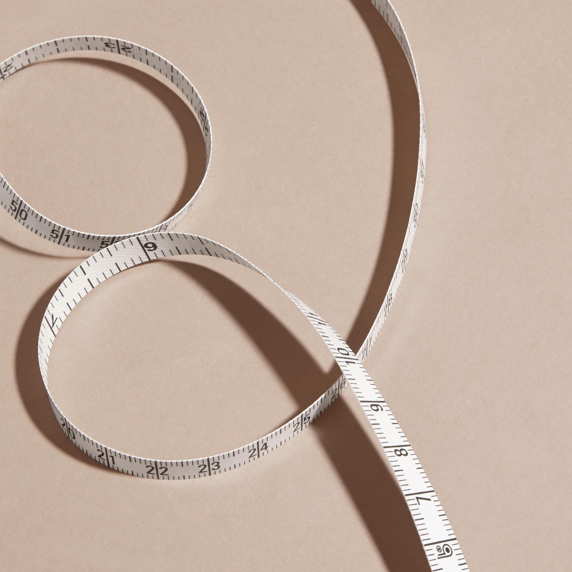 Preto Fita métrica com estojo de couro granulado - galeria de imagens 2