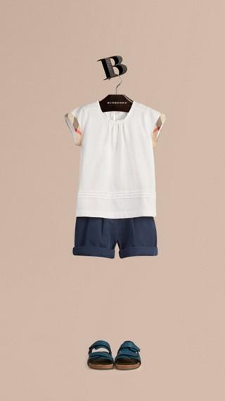 T-shirt en coton avec motif check