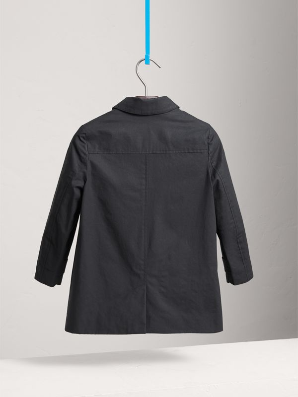 Mercerised Cotton Car Coat in Black | Burberry United States - cell image 3