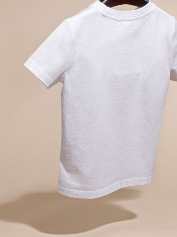 White Beetle Motif Cotton T-shirt - cell image 3