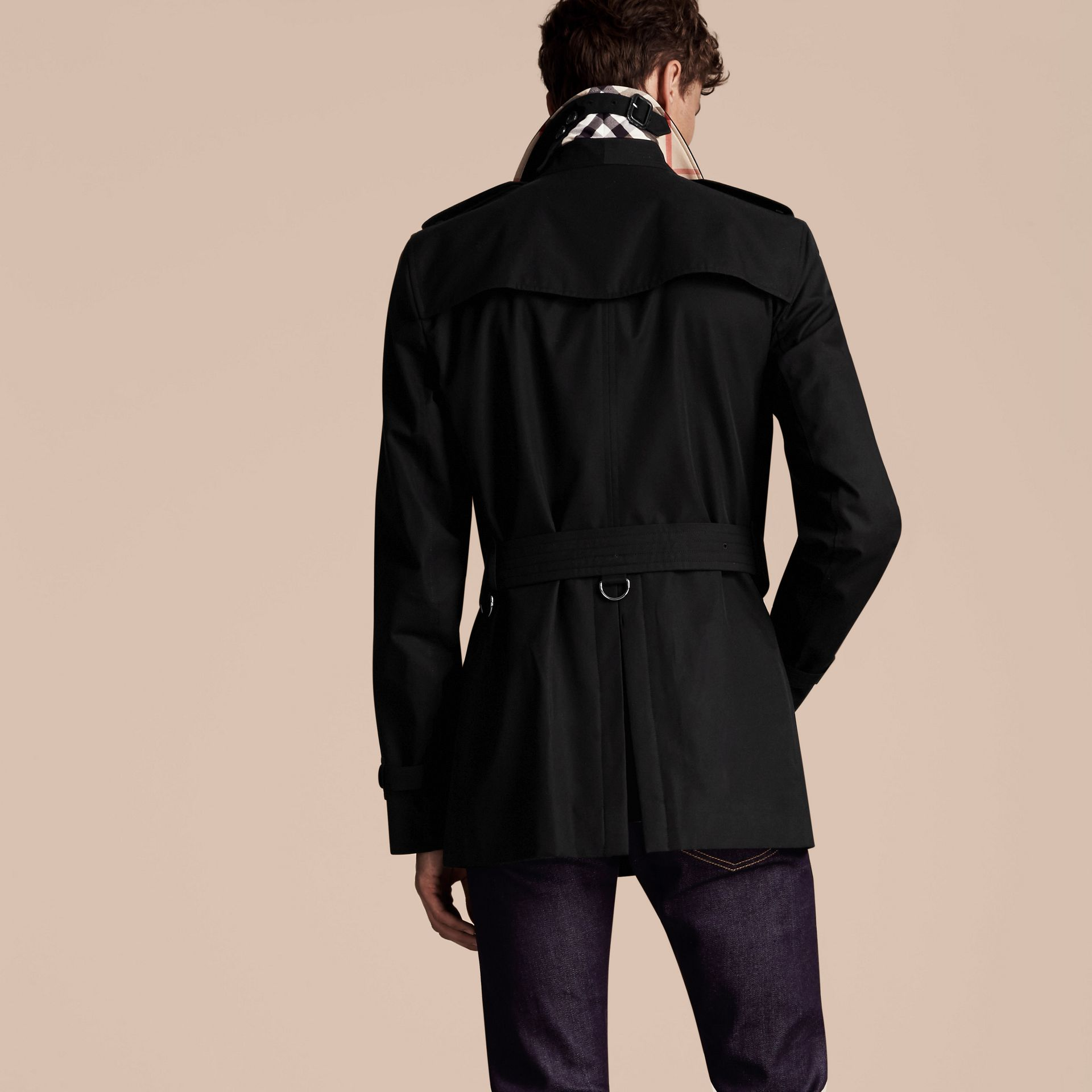 Black The Kensington – Short Heritage Trench Coat Black - gallery image 3