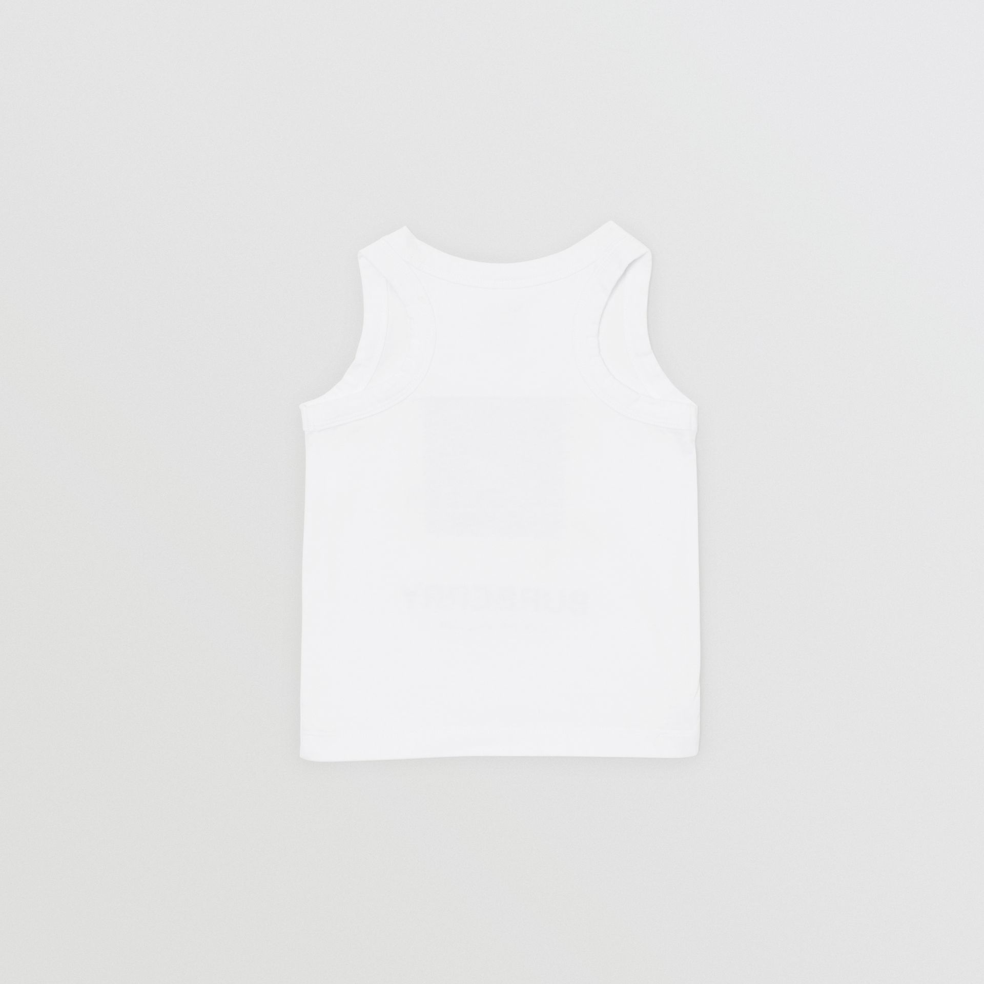 Vintage Photo Print Cotton Vest in White - Children | Burberry Singapore - gallery image 3