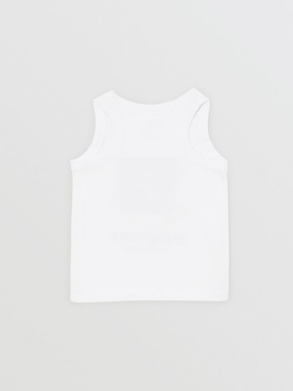 Vintage Photo Print Cotton Vest in White - Children | Burberry Singapore - cell image 3