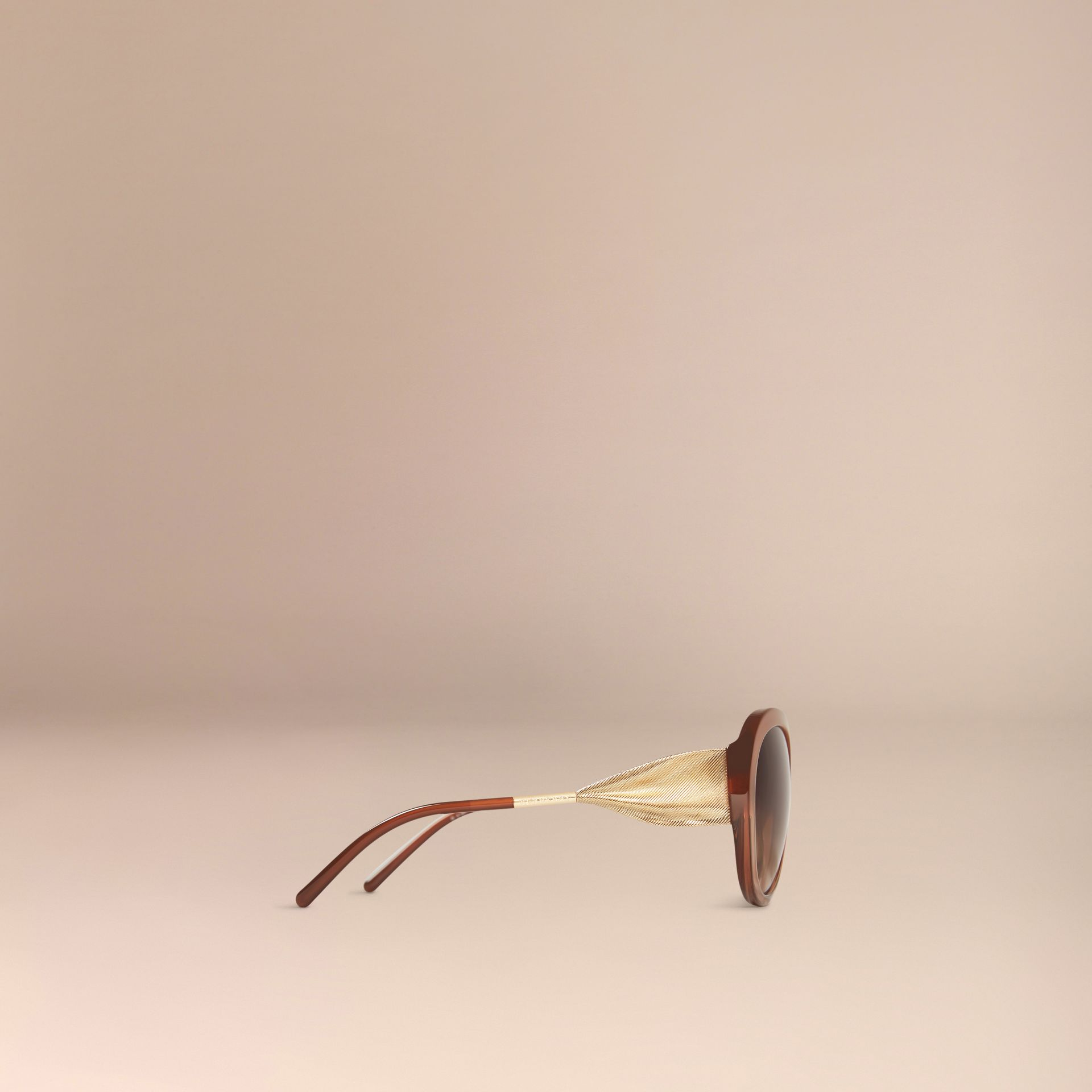 Fawn pink Oversize Round Frame Sunglasses - gallery image 5