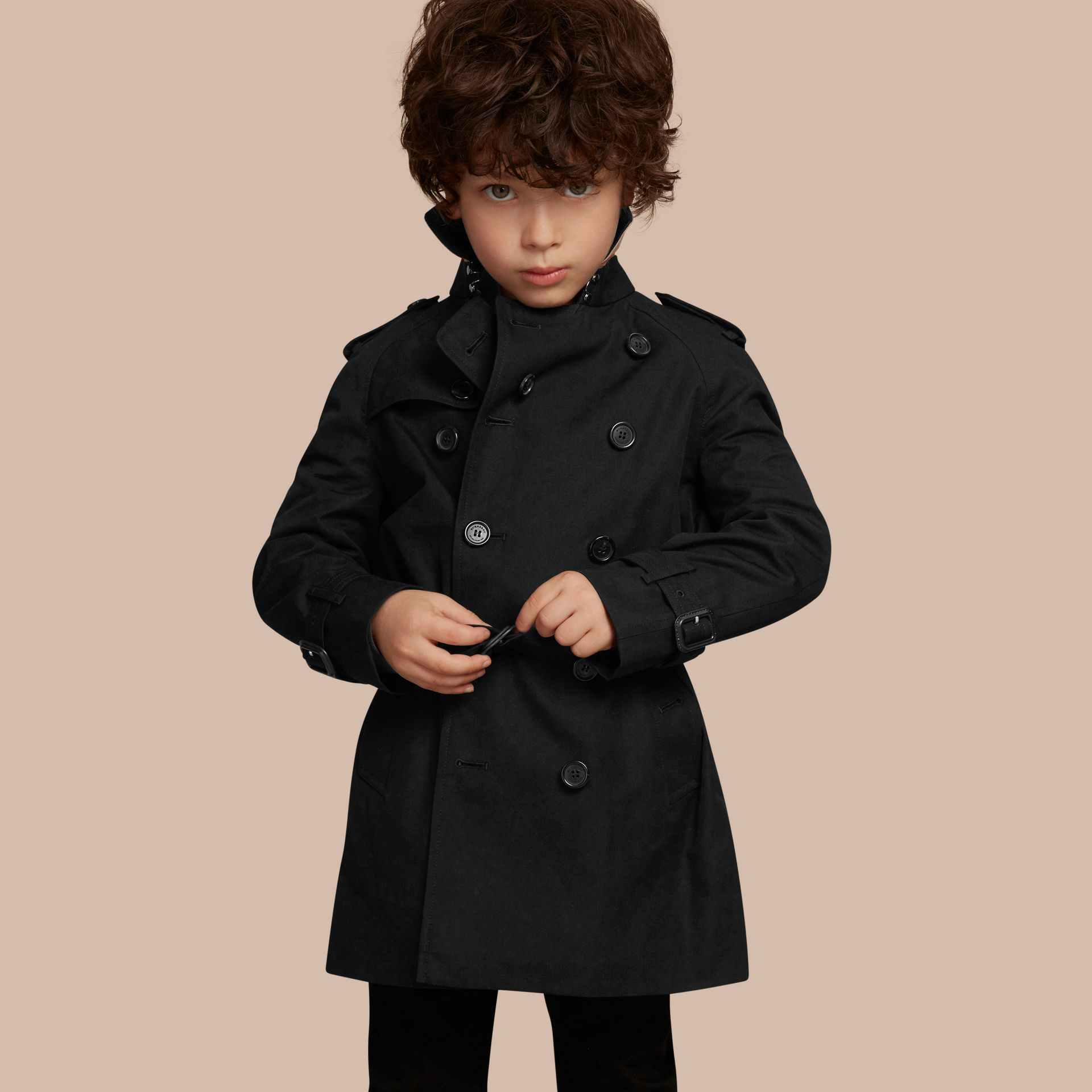 The Wiltshire – Heritage Trench Coat in Black - Boy | Burberry - gallery image 1