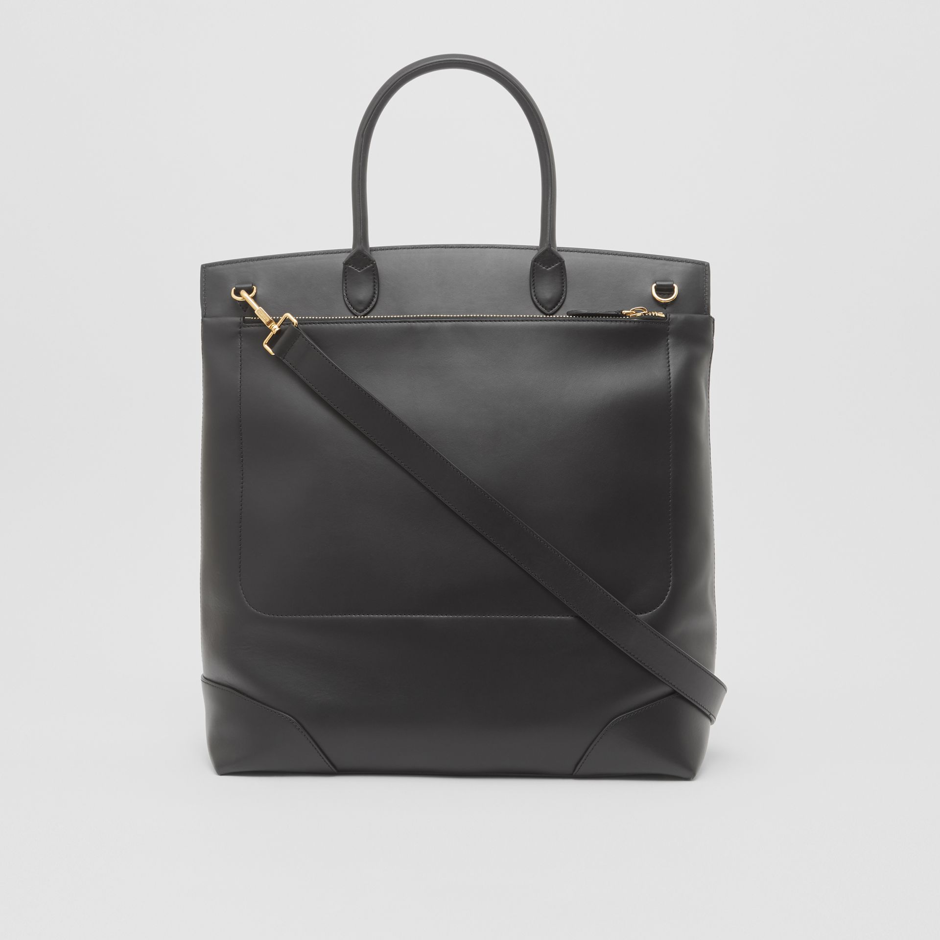 Leather Portrait Society Tote in Black - Men | Burberry - gallery image 8