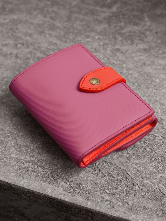 Trench Leather Wallet in Rose Pink - Women | Burberry Australia - cell image 2