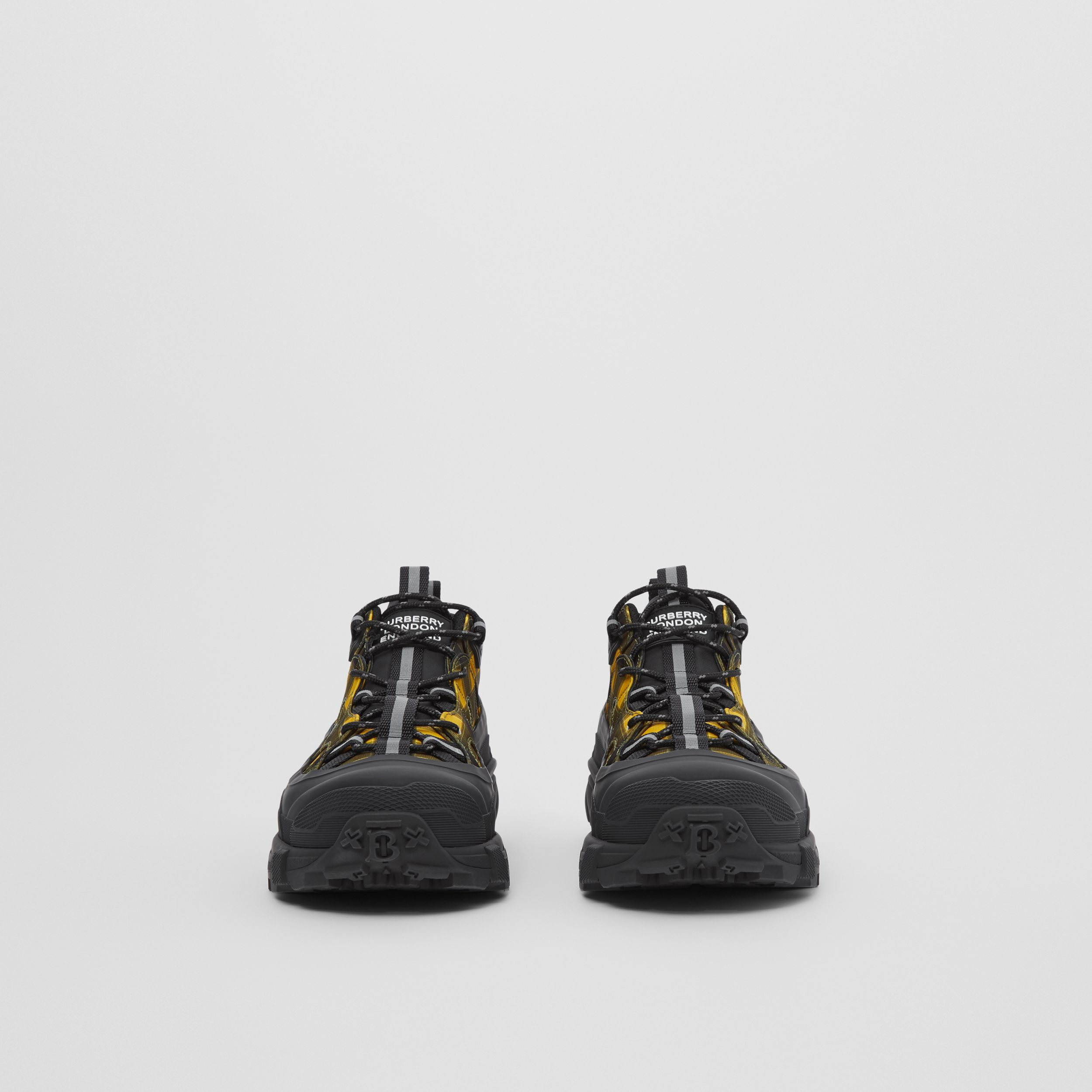 Check Technical Arthur Sneakers in Yellow | Burberry - 3