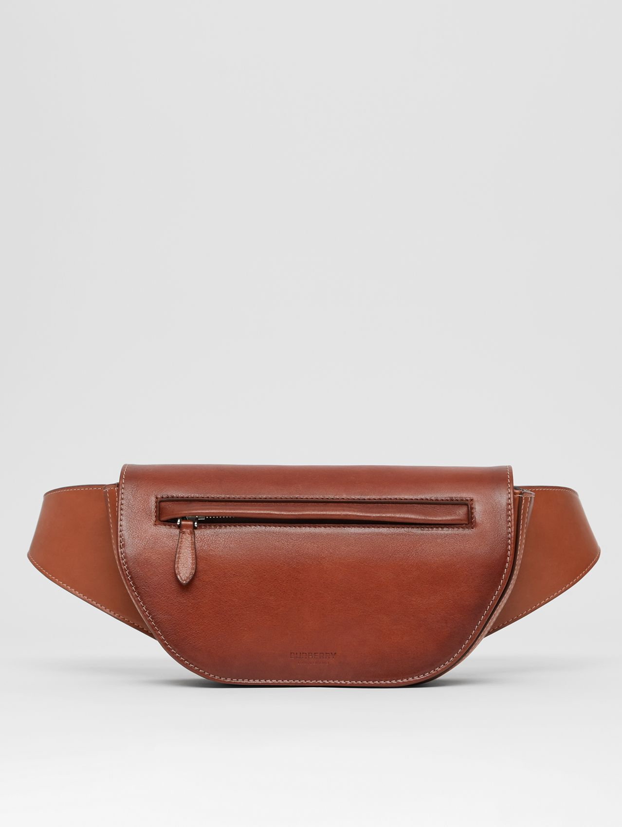 Small Leather Olympia Bum Bag in Dark Russet Brown