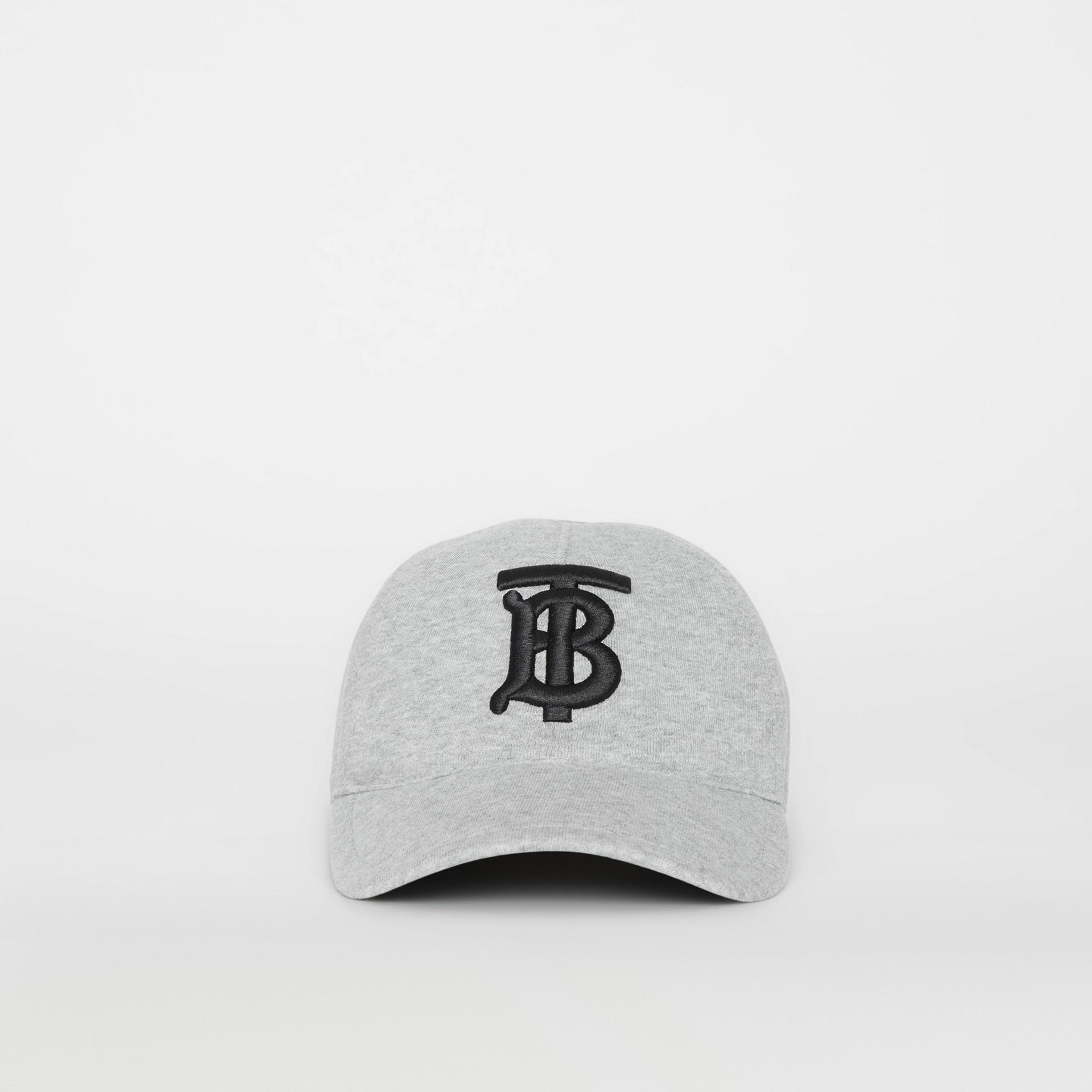 Бейсболка с монограммой Burberry (Светло-серый Меланж) | Burberry - изображение 4