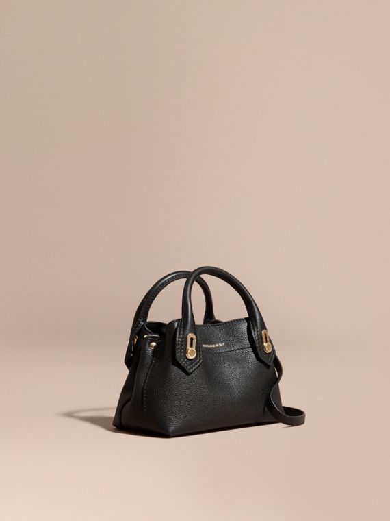 The Baby Milton in Grainy Leather Black