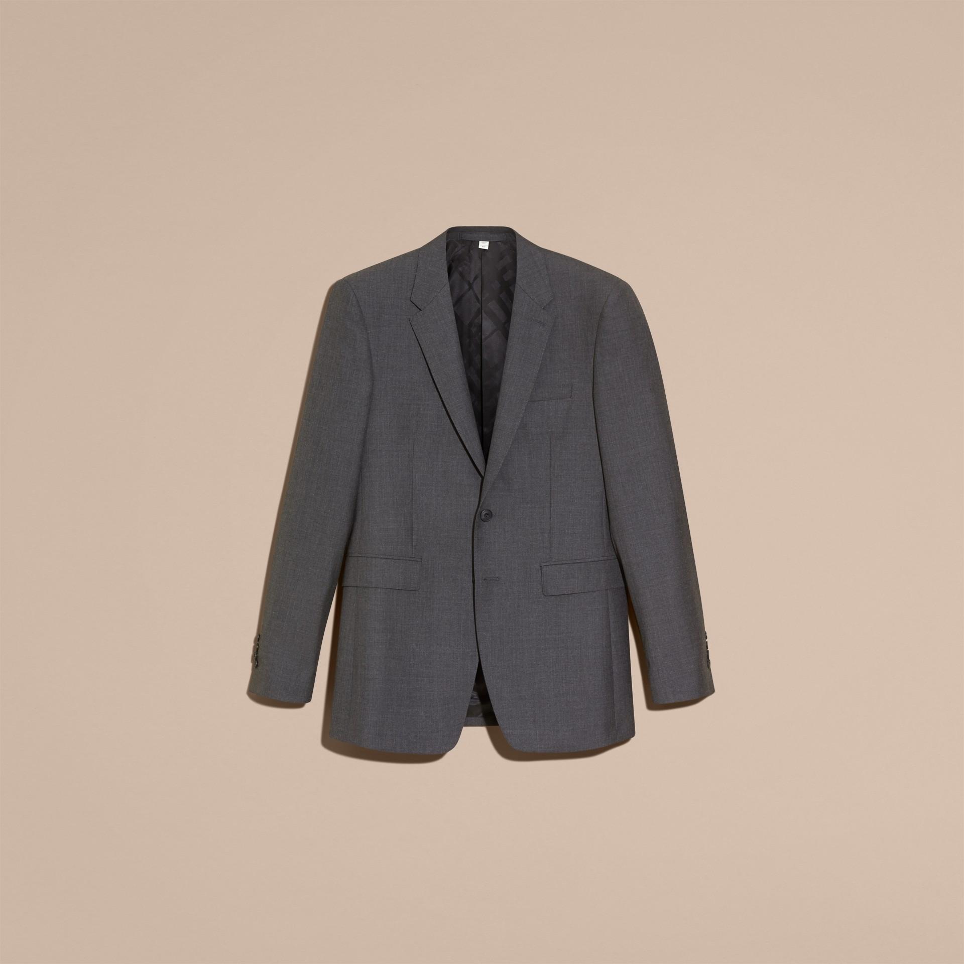 Modern geschnittener Part-Canvas-Anzug aus Wolle (Anthrazitfarben) - Herren | Burberry - Galerie-Bild 4