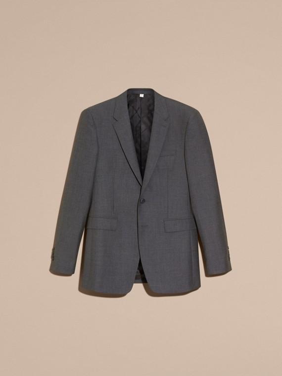 Modern geschnittener Part-Canvas-Anzug aus Wolle (Anthrazitfarben) - Herren | Burberry - cell image 3