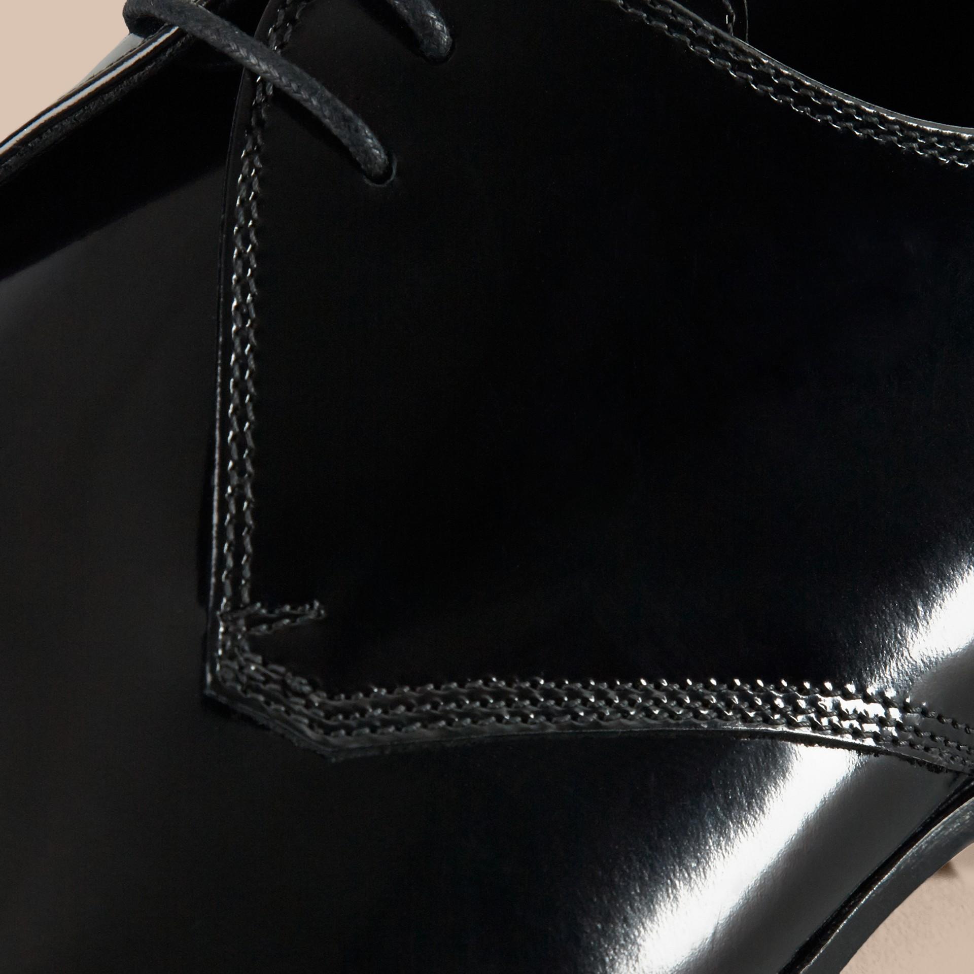 Nero Scarpe da cerimonia in pelle lucida - immagine della galleria 2