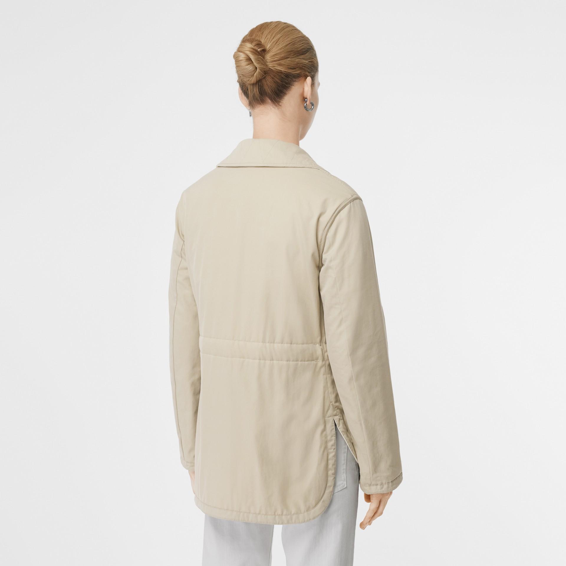 Giacca reversibile in cotone trapuntato (Bianco Naturale) - Donna | Burberry - immagine della galleria 2